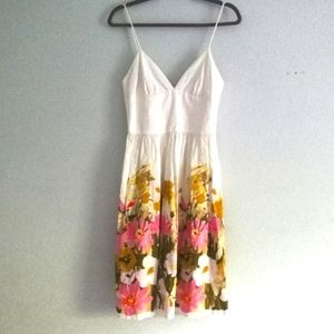 Trina Turk Watercolor Floral Spaghetti Strap Dress